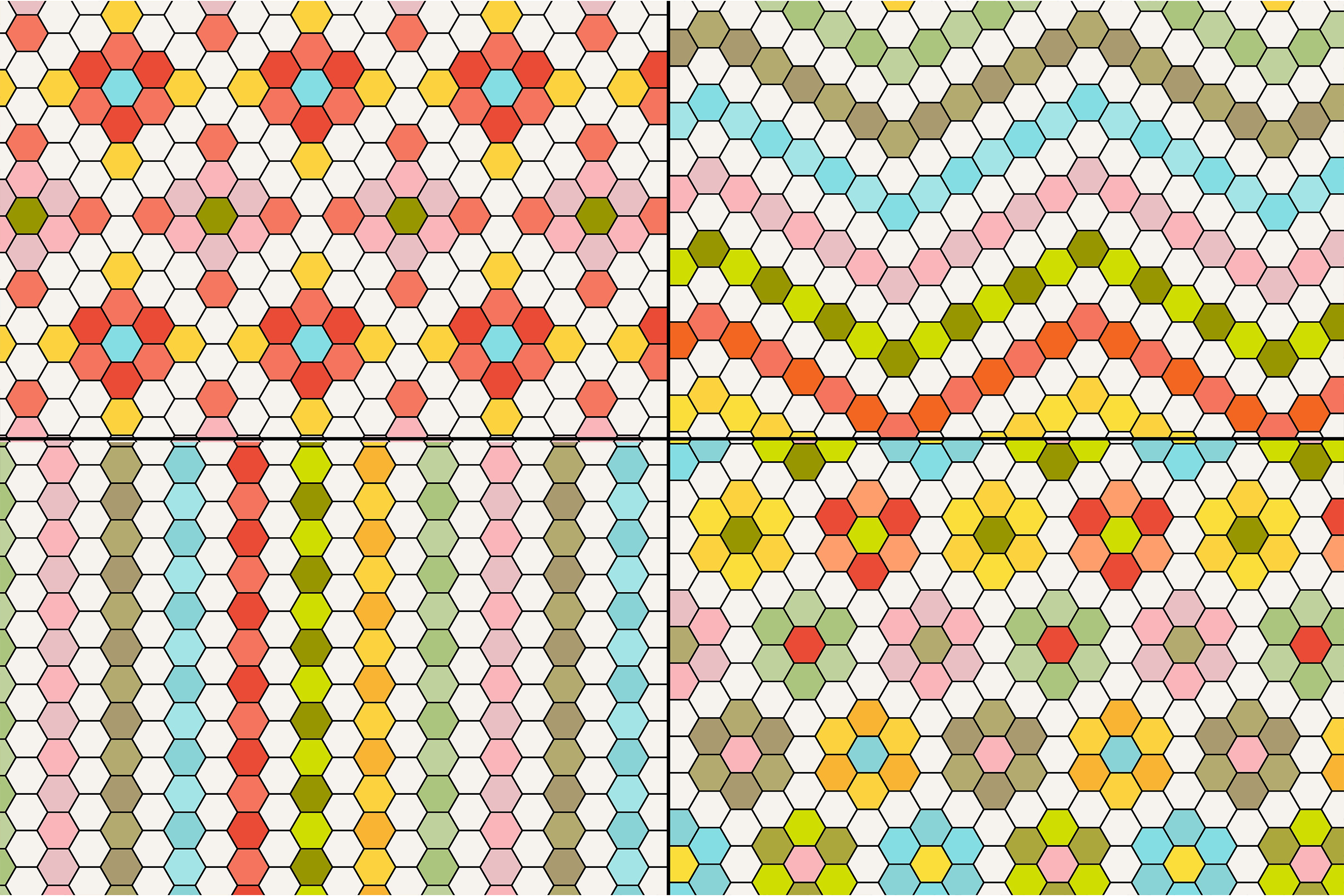 Hexagon Tile Patterns example image 5