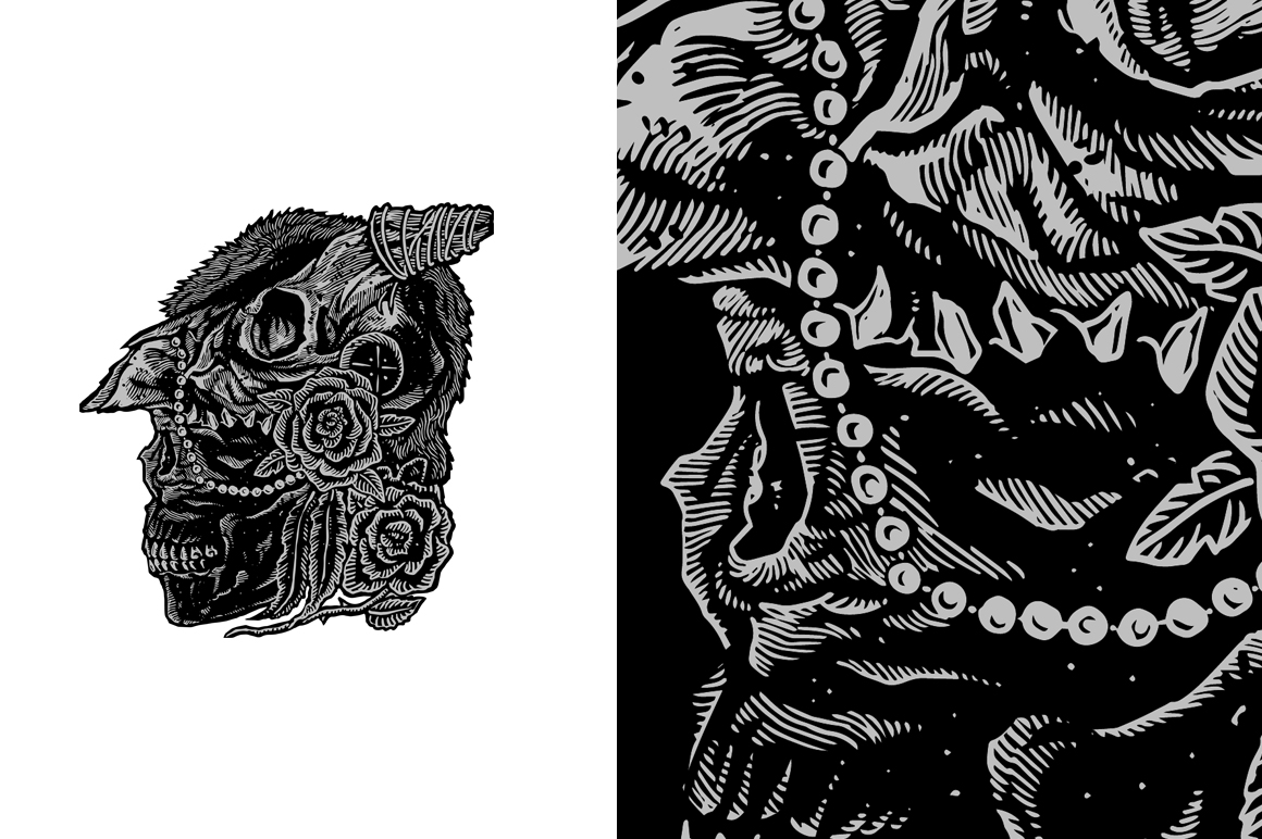 20 VECTOR skull illustration example image 16