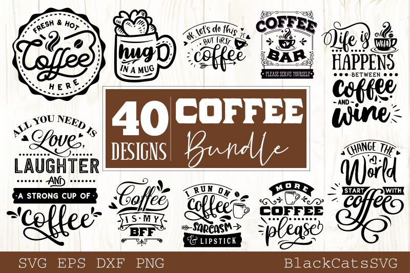 Coffee SVG bundle 40 designs Coffee SVG bundle example image 5