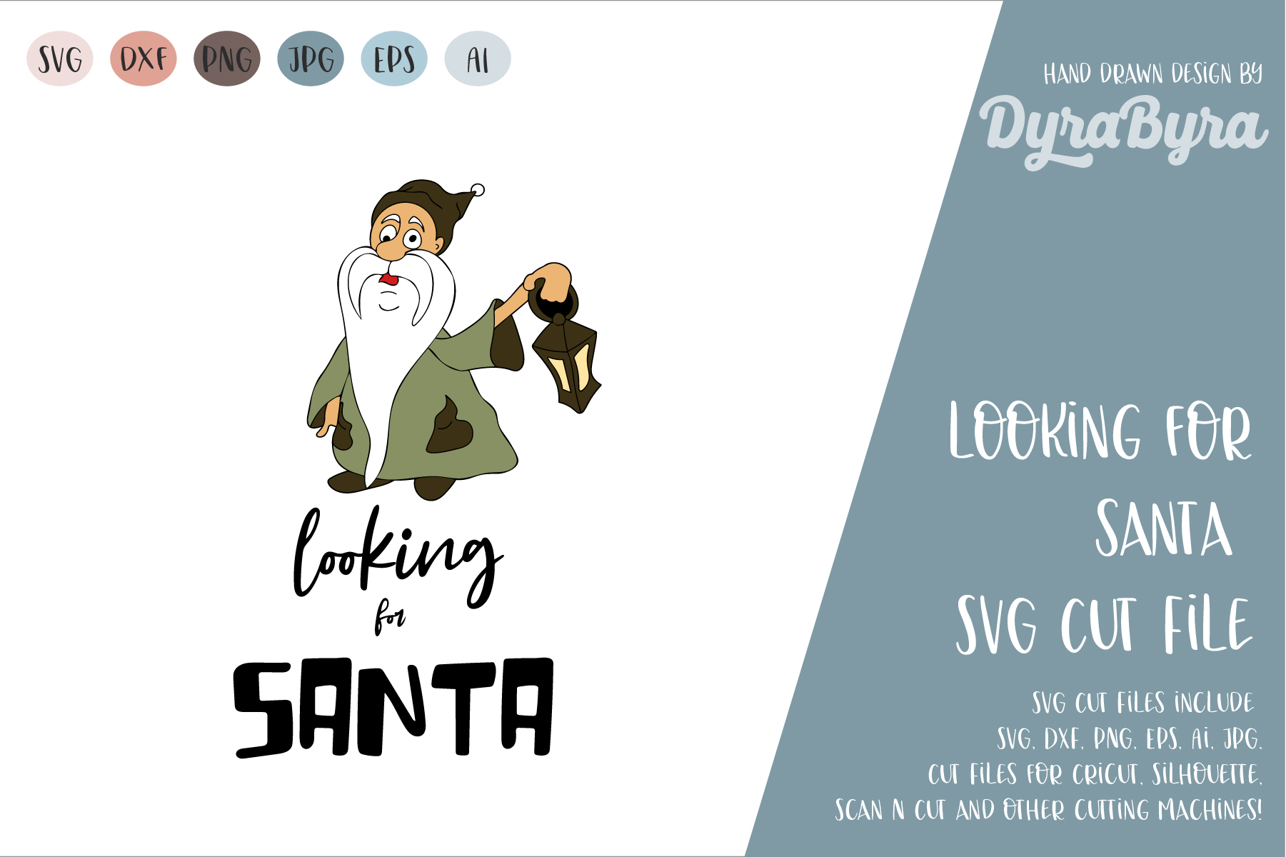 Looking for Santa SVG / Gnome SVG / Christmas Cut File example image 1