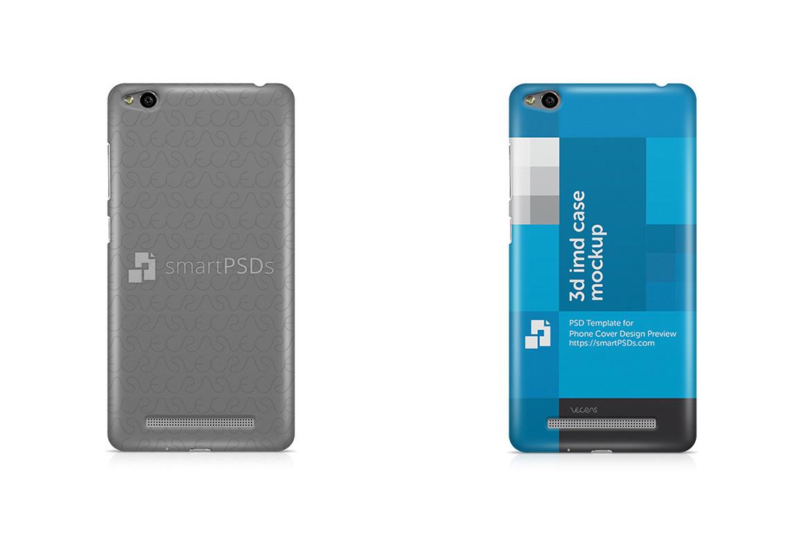 Xiaomi Redmi 3 3d IMD Mobile Case Design Mockup 2016 example image 1