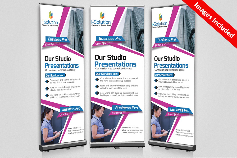 Business Multi Use Roll Up Banners example image 1