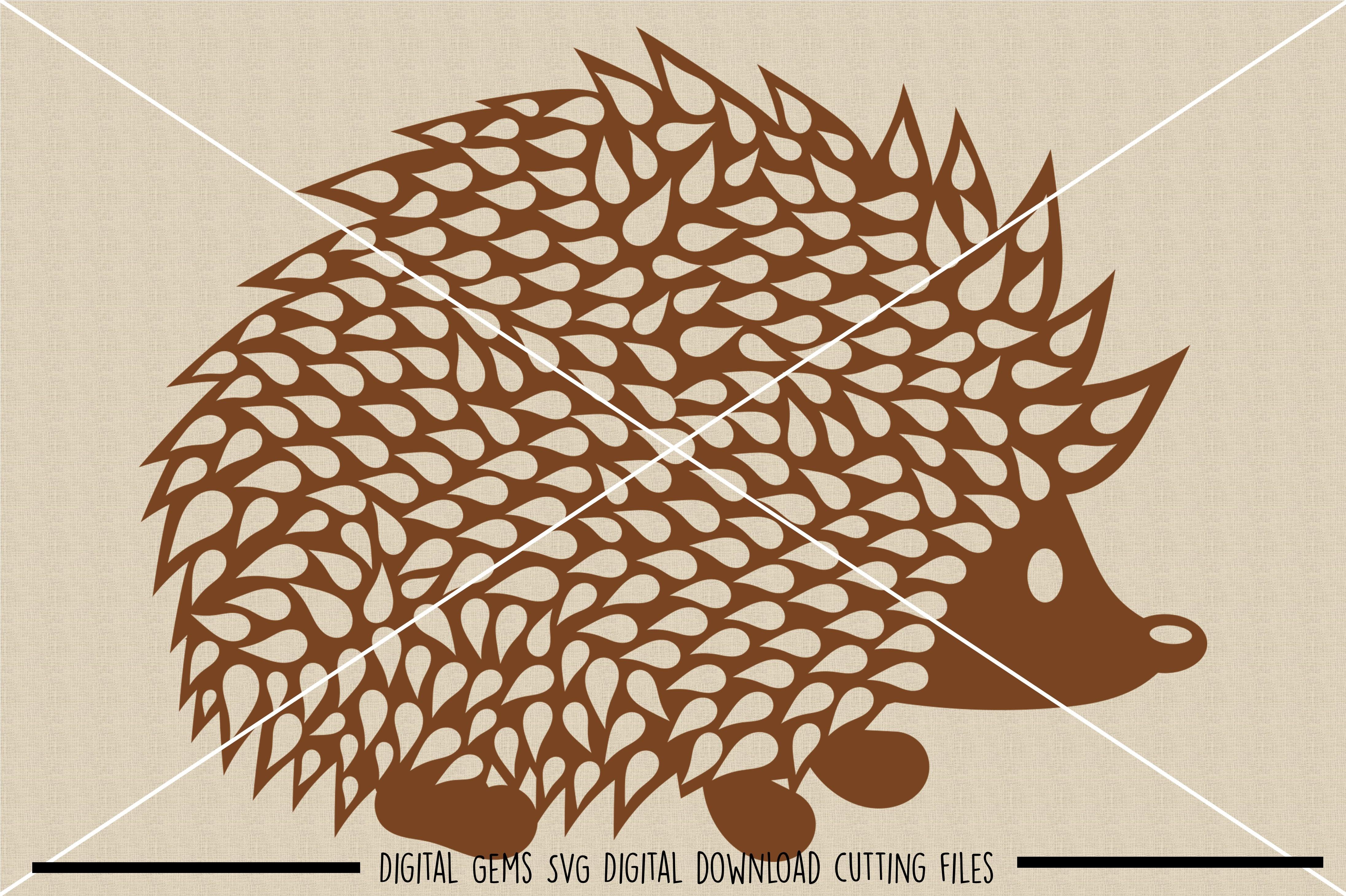 Hedgehog SVG / DXF / EPS / PNG files example image 2