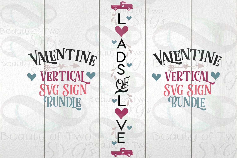 Valentines Vertical svg Sign Bundle, 4 Valentine svg designs example image 3