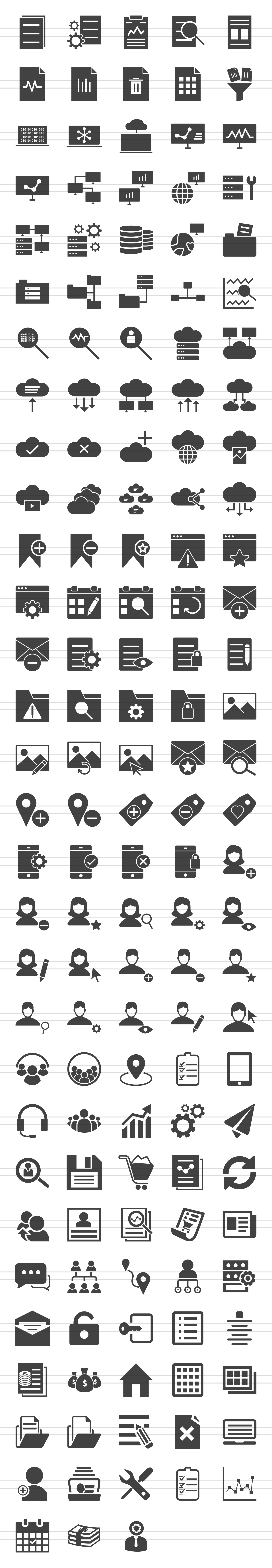 148 Admin Dashboard Glyph Icons example image 2