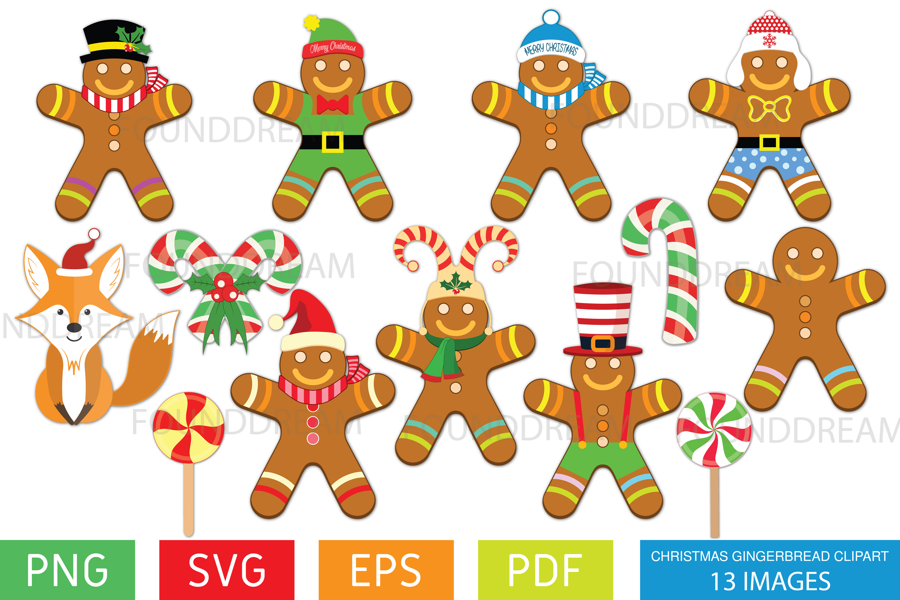 Christmas Gingerbread Clip art example image 1