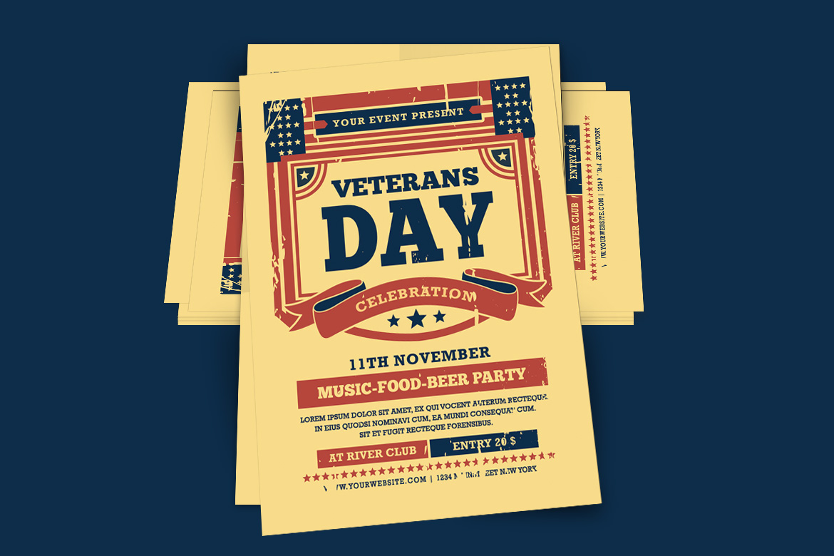 Veterans Day Flyer example image 2