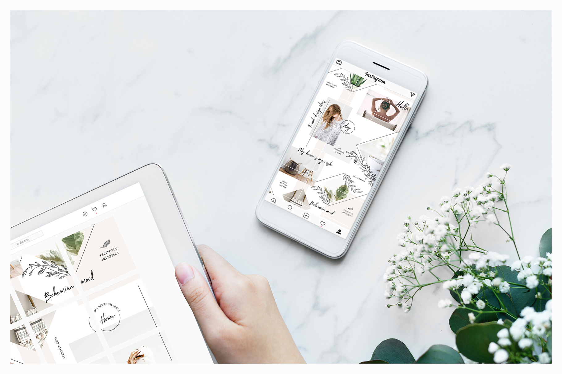 Fine Instagram Puzzle Template example image 2