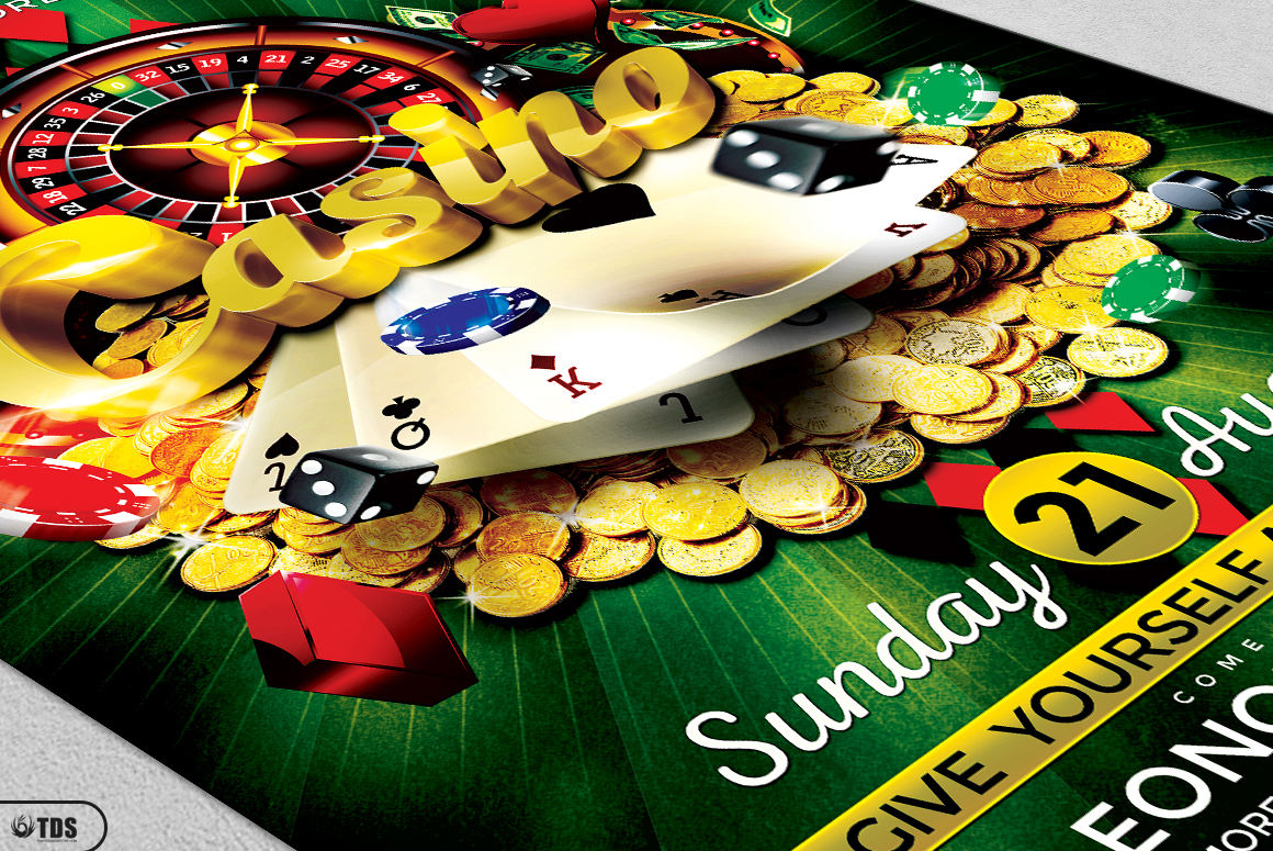 Poker and Casino Flyer Bundle example image 13