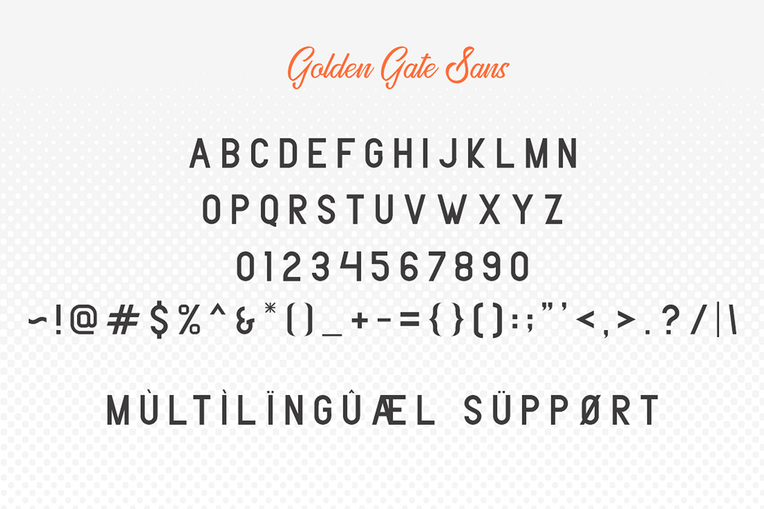 Golden Gate   Handcrafted Font Familyy example image 6