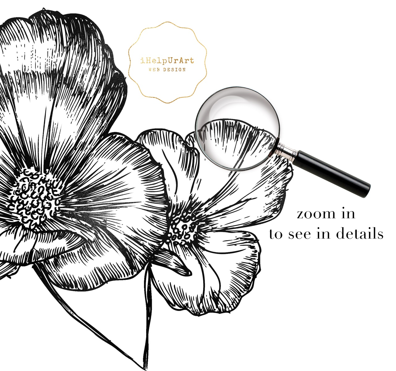 Modern Flowers Clipart example image 3