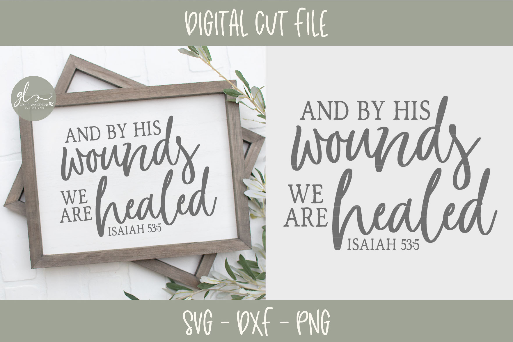 And By His Wounds We Are Healed - Scripture SVG example image 2