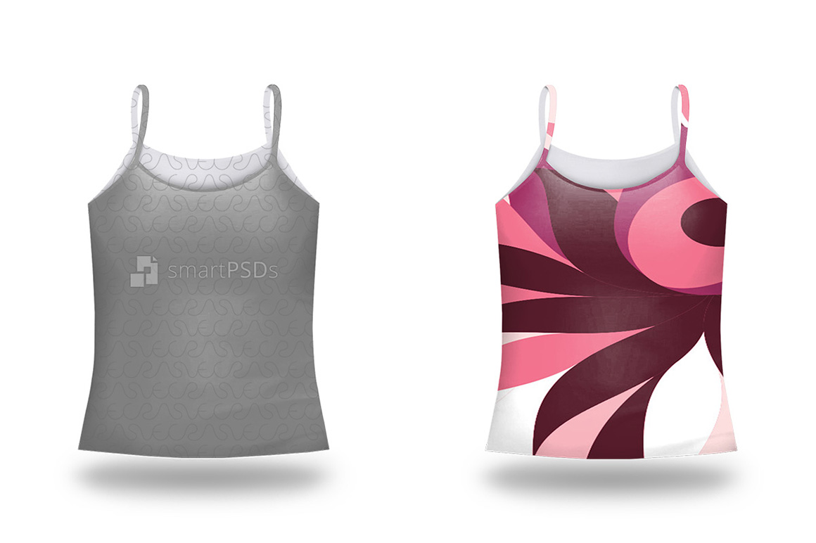 Spaghatti Strap Top Mockup for Sublimation Preview Design example image 2