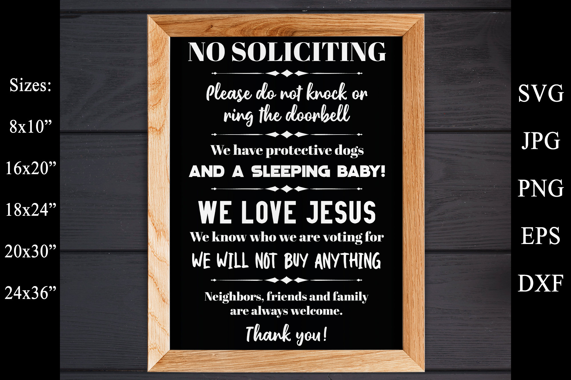 No Soliciting - Do Not Ring The Doorbell SVG EPS Solicitors example image 3