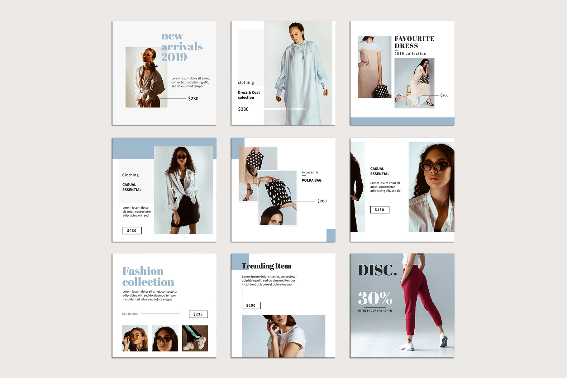 Fashion Instagram Templates example image 8