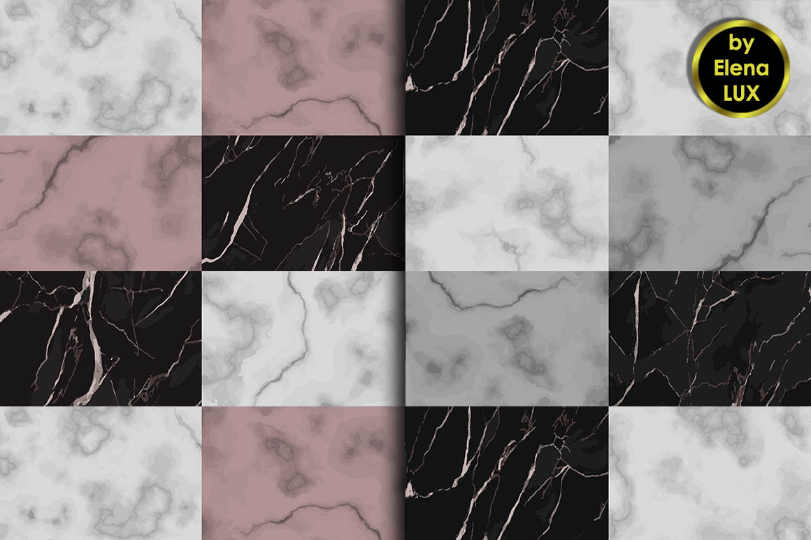 Marble Seamless Pattern Set example image 2