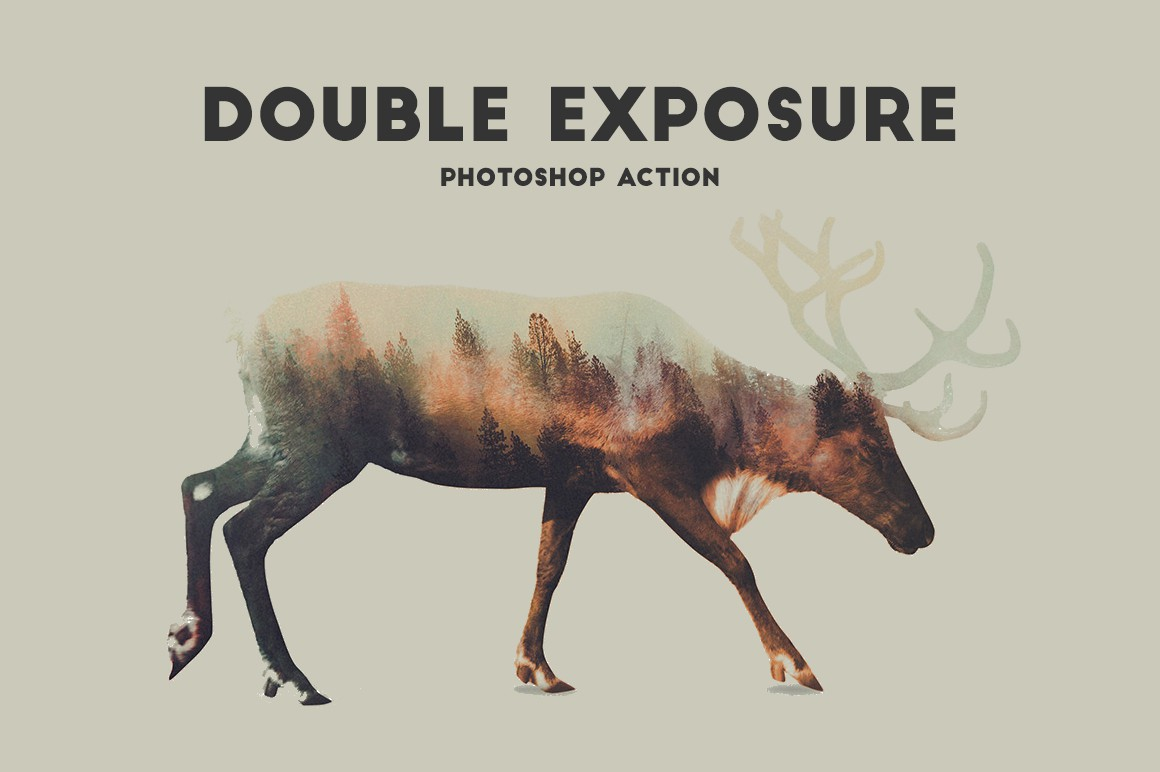 Double Exposure Photoshop Action Pro example image 3