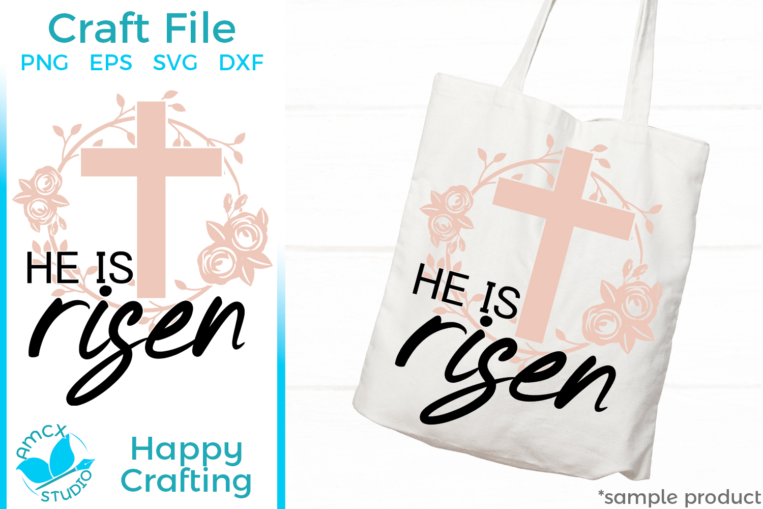 He Is Risen - Christian Cut Craft Files example image 2