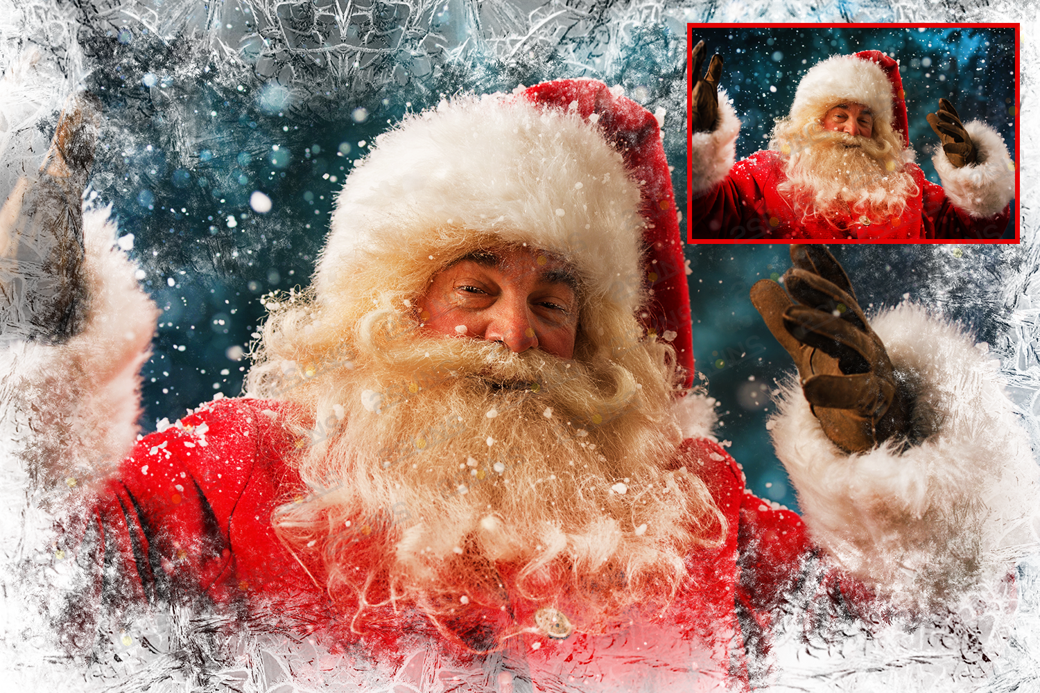 Download photo overlays, christmas winter frames PNG example image 2