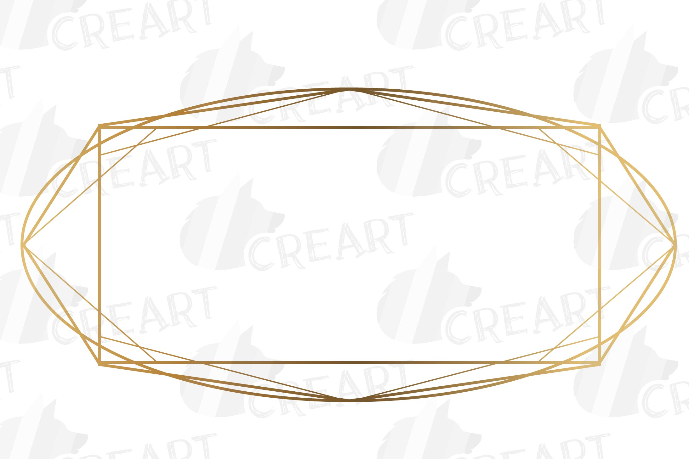 Elegant wedding geometric golden frames, lineal frames svg example image 4