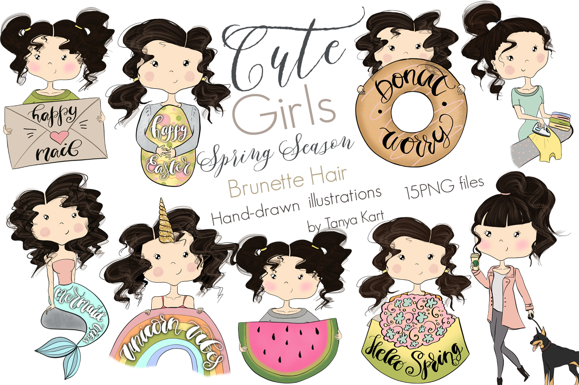 Cute Planners Girls Spring Collections Bundle example image 7