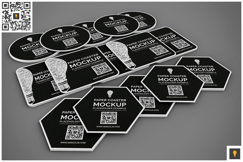 Paper Coaster Mockup example image 9