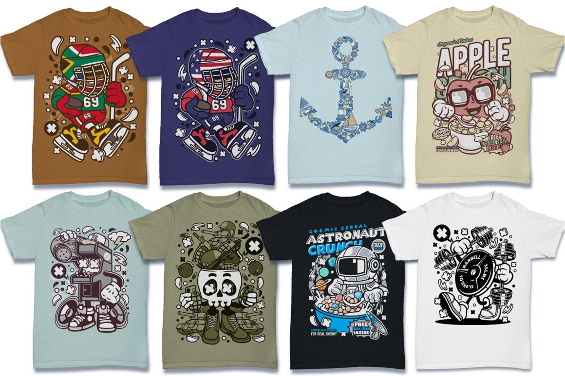 Cartoon Vector #6 Tshirt Design Bundle example image 2