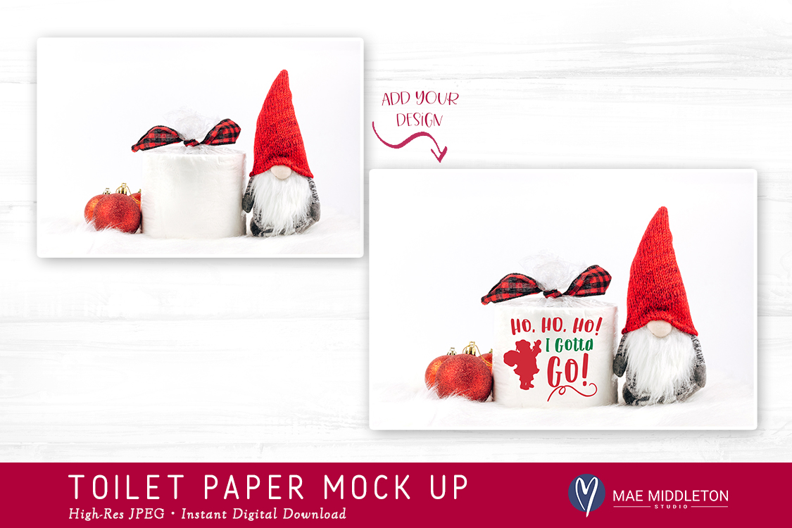 Toilet Paper Roll Mock up for Christmas II example image 2