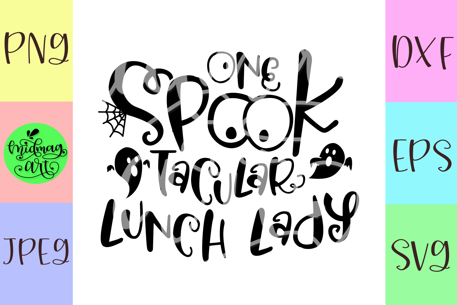 One spooktacular lunch lady svg, lunch lady halloween svg example image 2