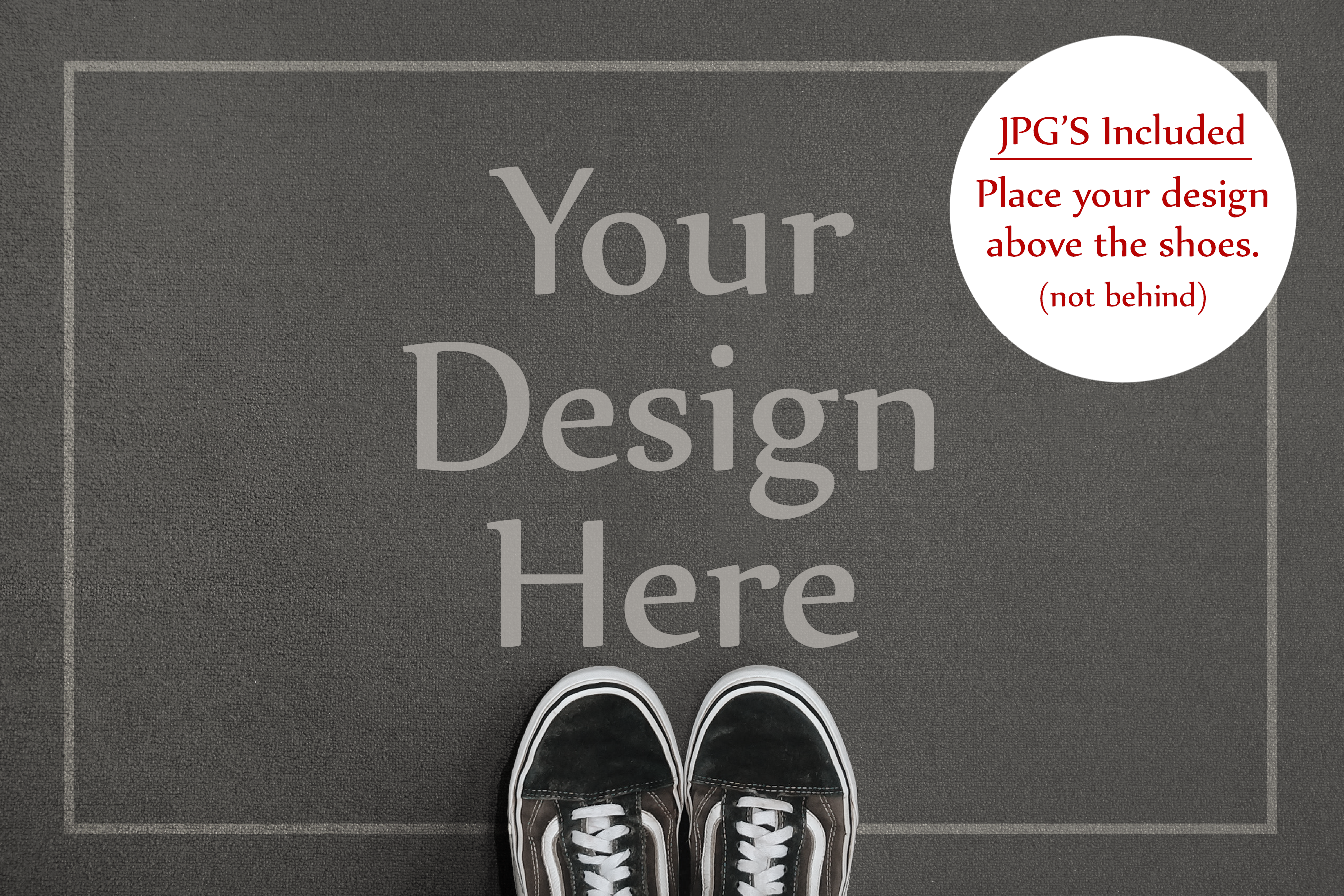 Doormat Mockup, Welcome Mat Mock Up, PSD, Smart Object & JPG example image 3