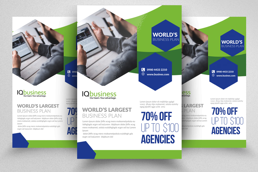 10 Multi use Business Corporate Flyer Bundle 10 example image 5