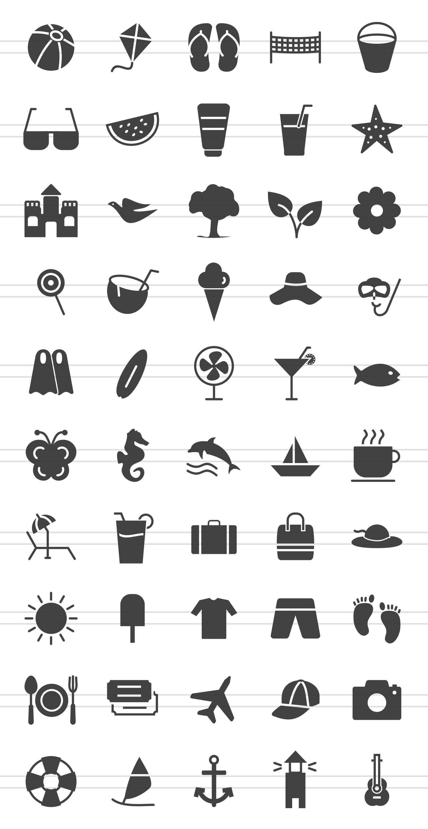 50 Summer Glyph Icons example image 2