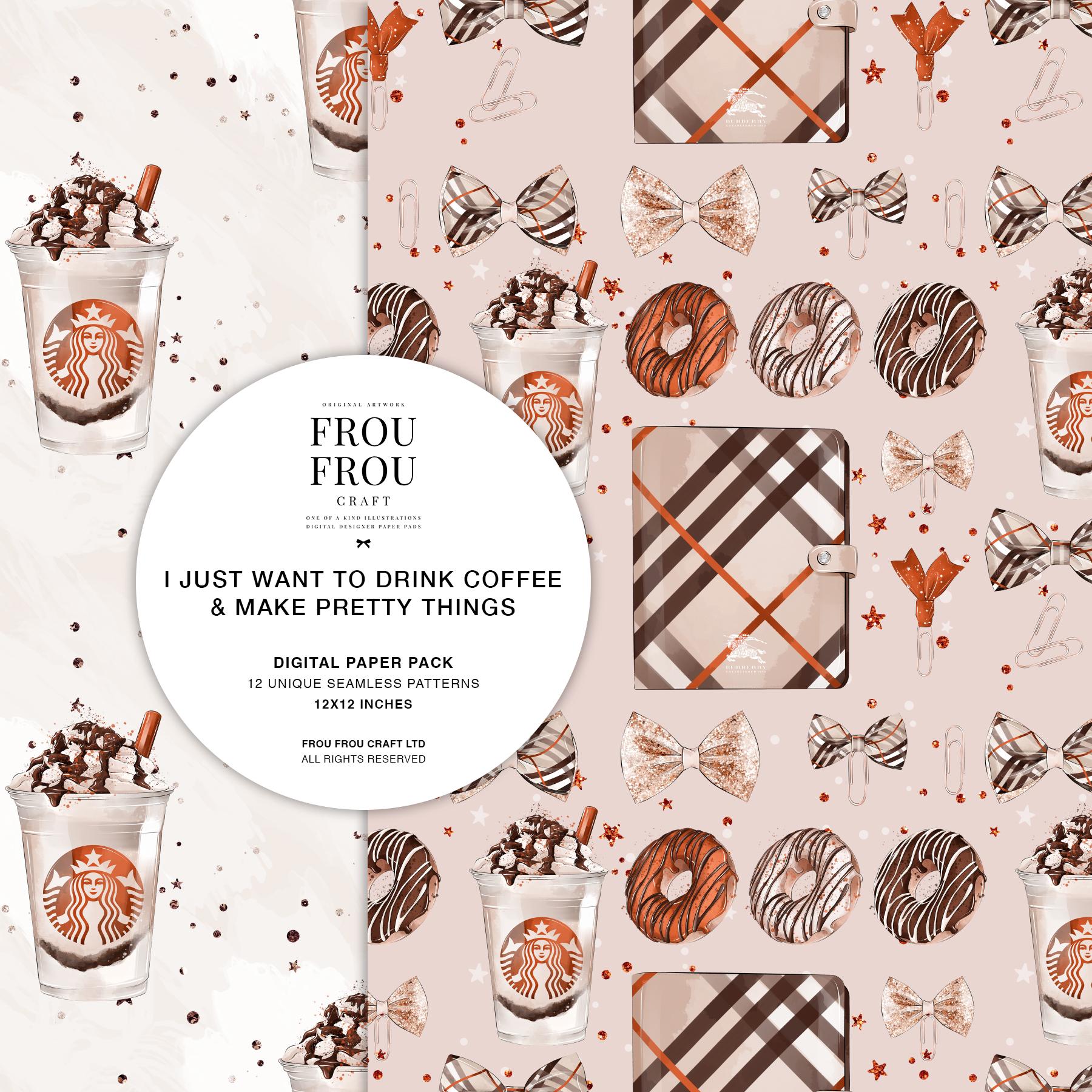 Coffee Lover Milkshake Donut Fall Autumn Paper Pack example image 5