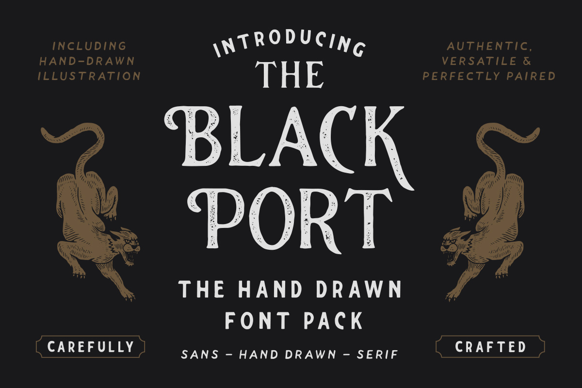The Blackport Font Pack and EXTRA! example image 1