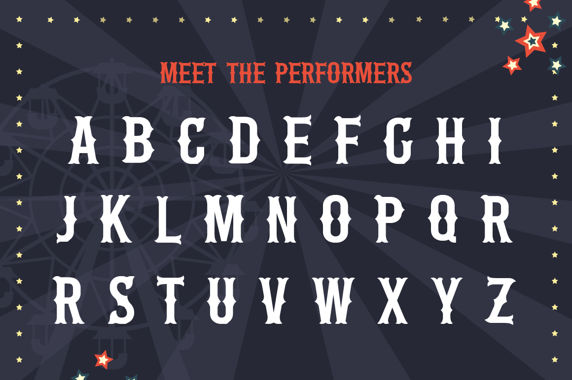 The Circus Font example image 5