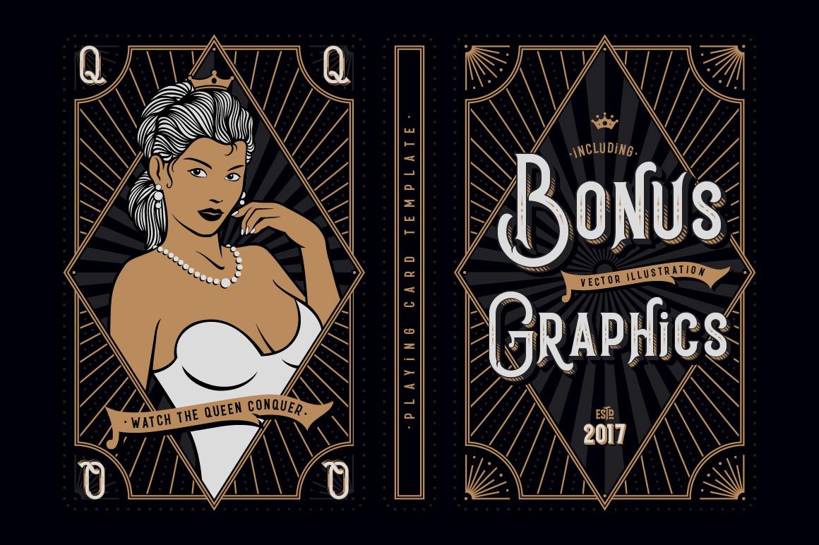 Black Queen font & bonus graphics example image 3