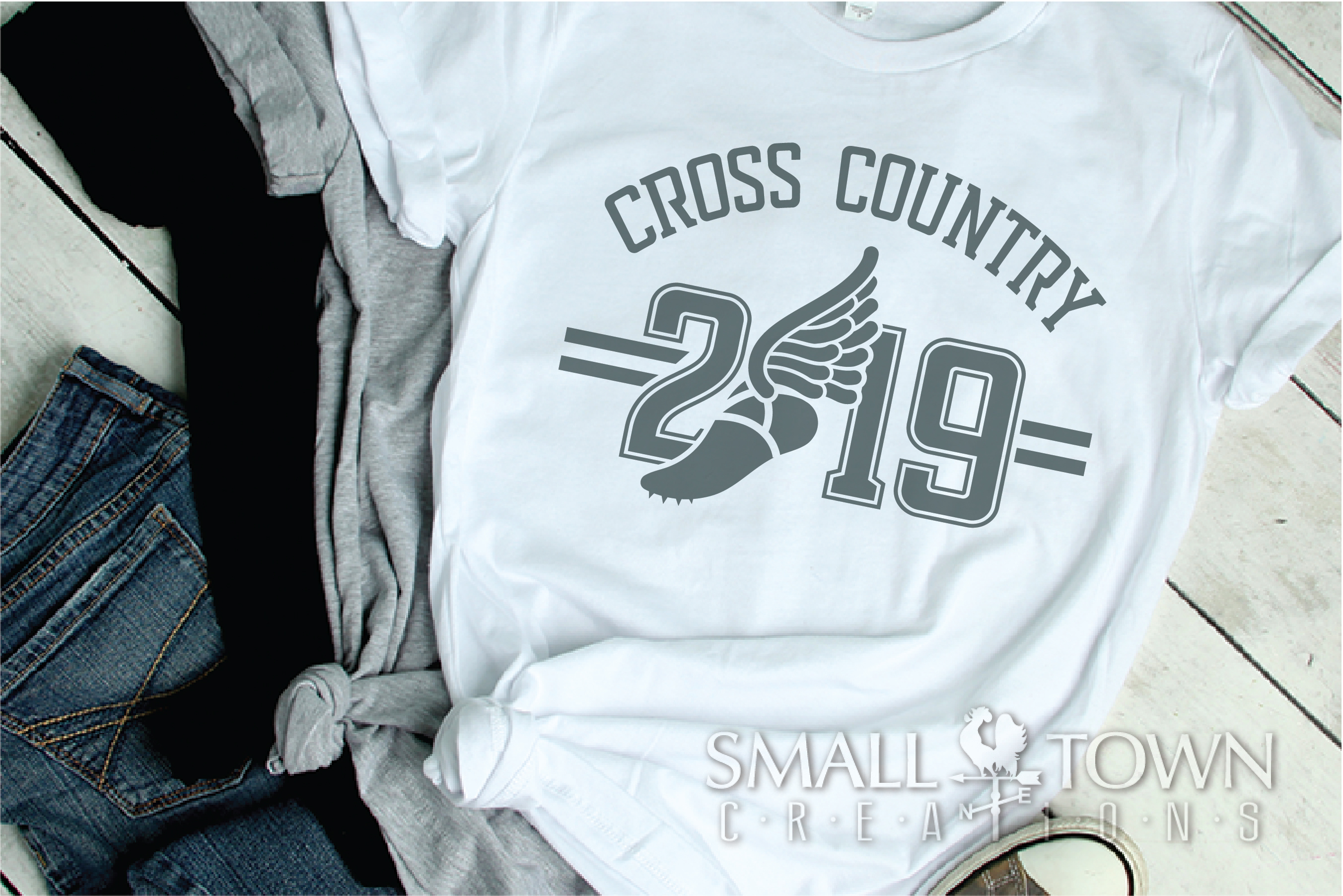 Cross Country, Running logo, Winged shoe, PRINT, CUT, DESIGN example image 2