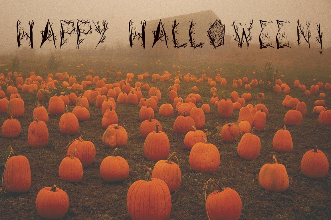 Halloween woody alphabet example image 7