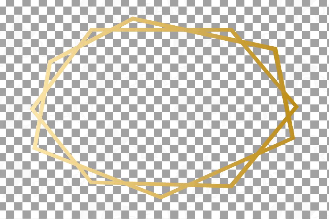 Elegant wedding geometric golden frames, lineal frames png example image 14