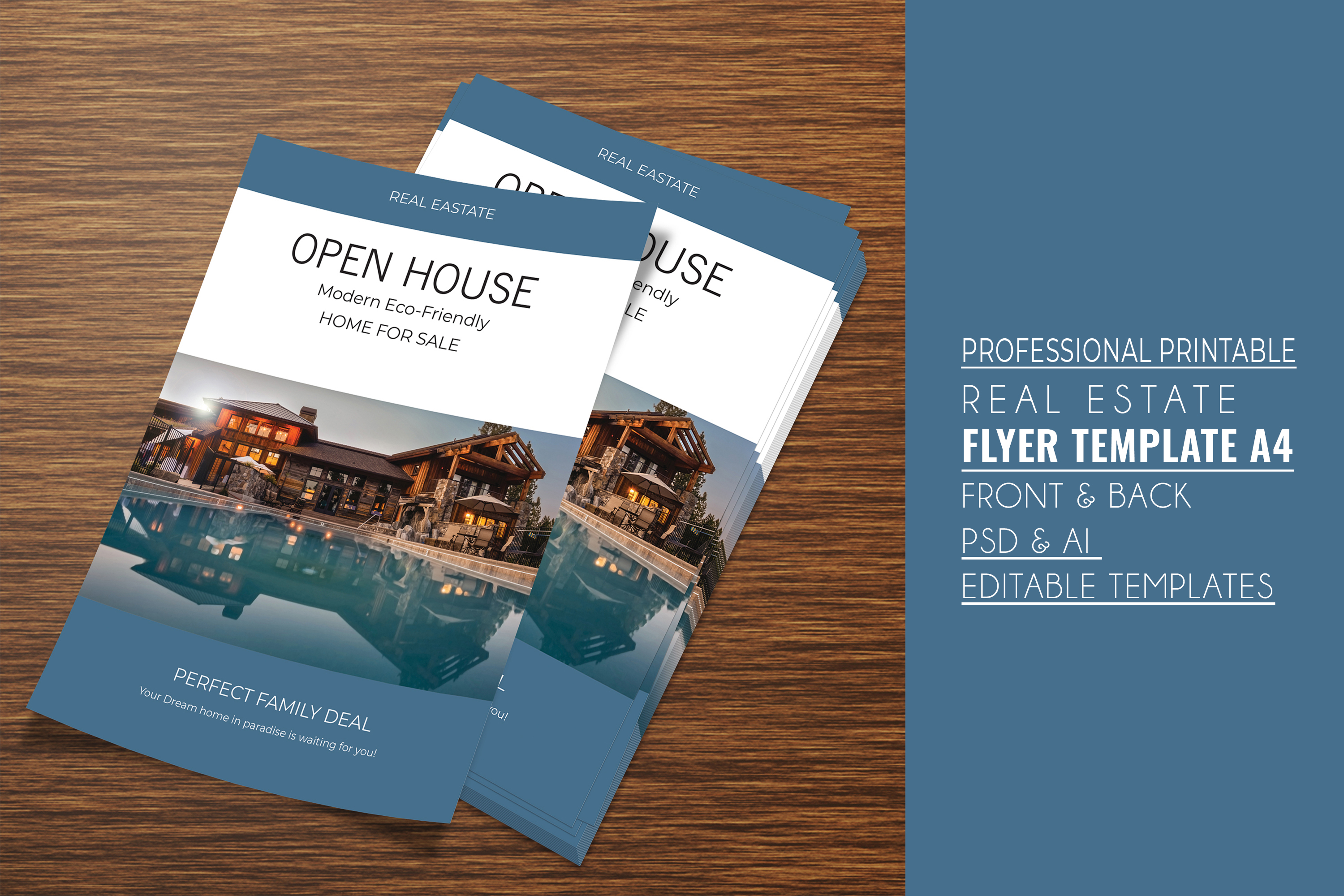 Professional Real Estate Flyer A4 - Printable Templates example image 8