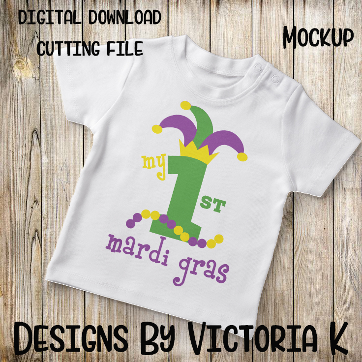 My 1st Mardi Gras, SVG, DXF, PNG example image 2