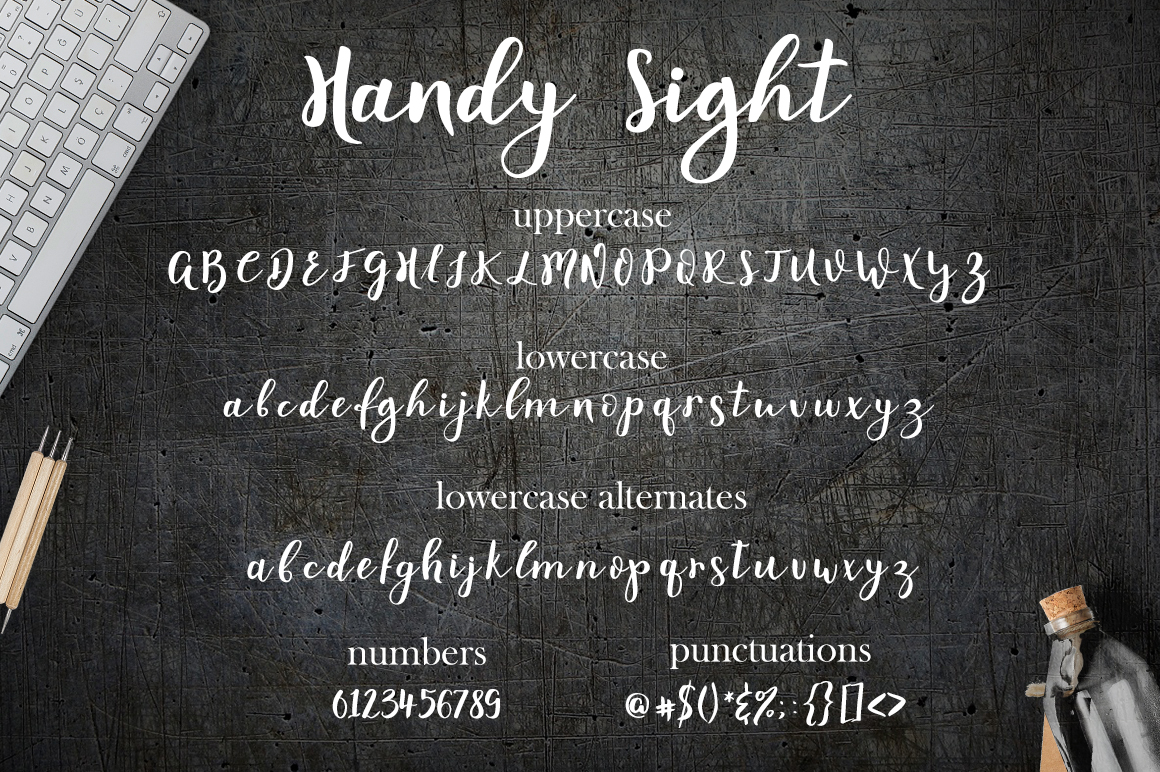 Handy Sight - font example image 9