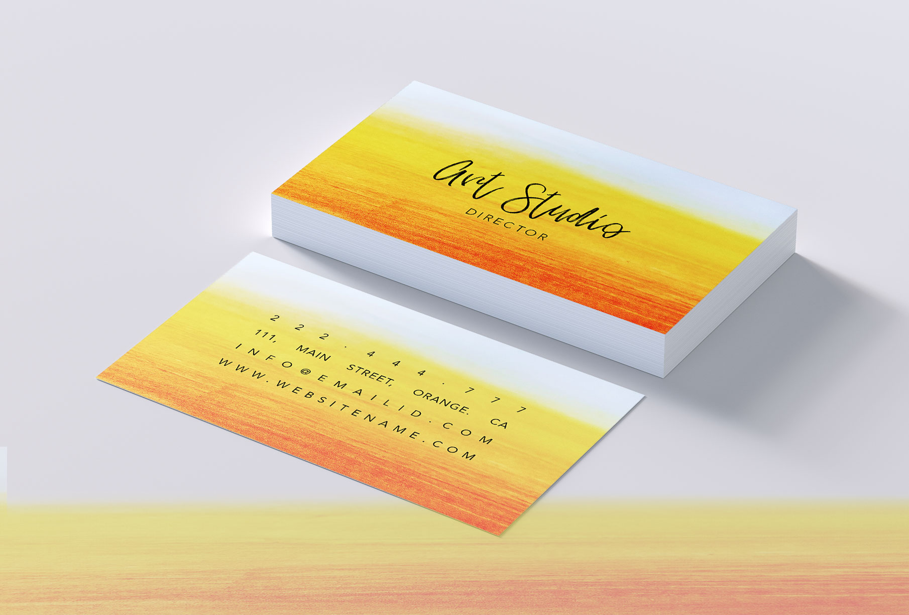 Beautiful bright colours business card example image 2