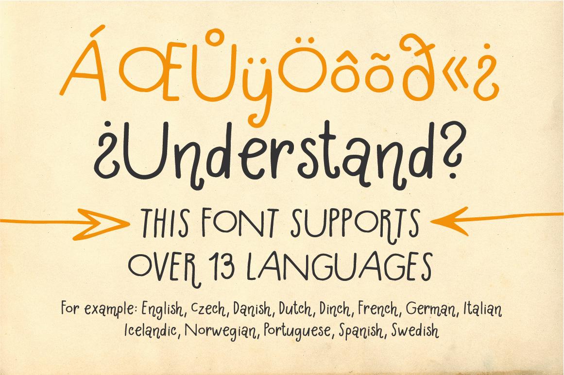 Hallo Hallo - HandDrawn Font Package example image 6