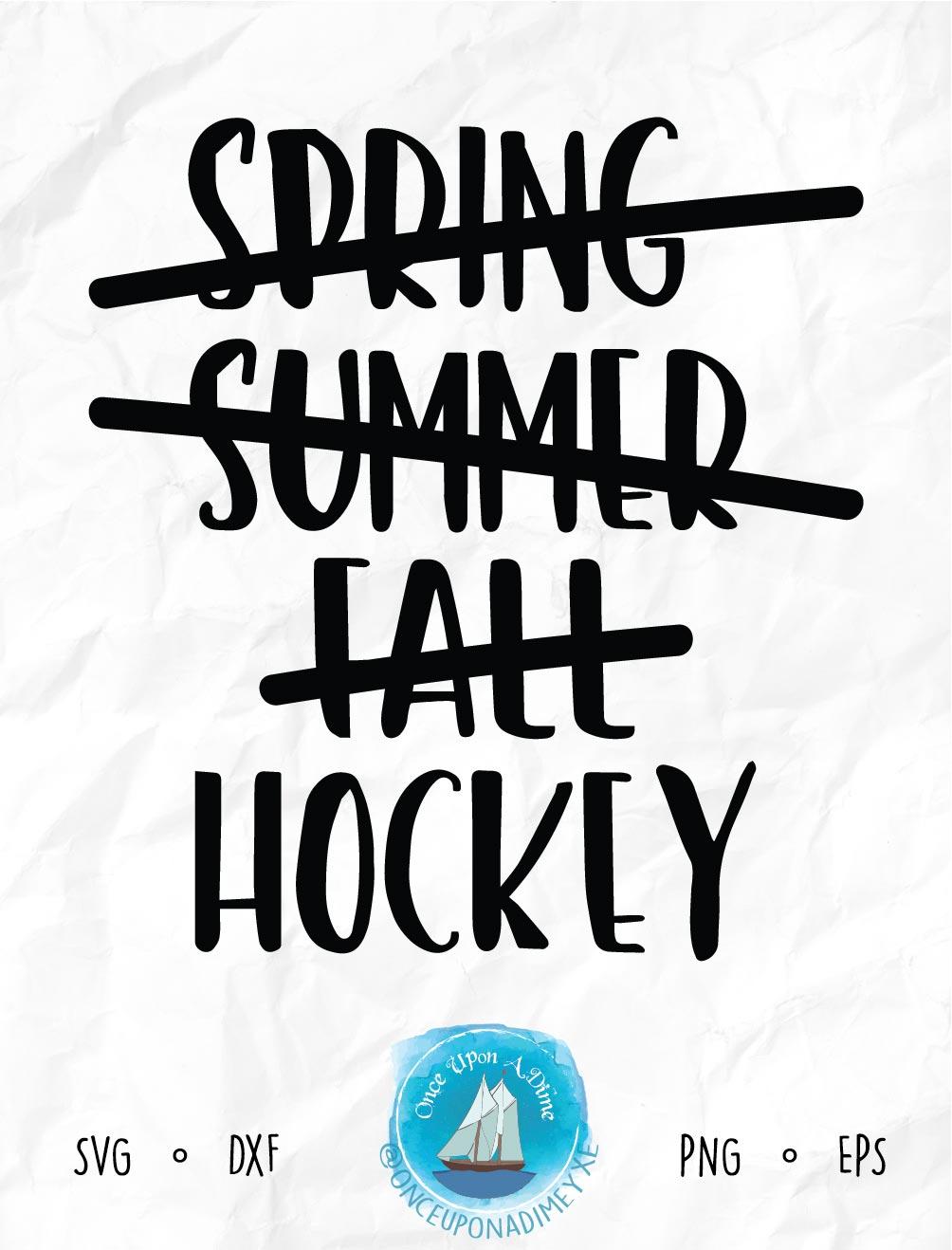 Hockey Season | Hockey | Hockey SVG Cut File example image 2