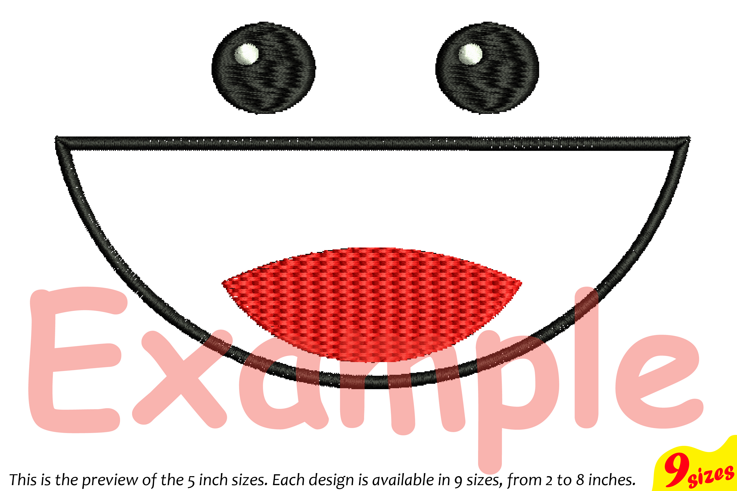 Cute Emoji Embroidery Design Machine Instant Download Commercial Use digital file icon symbol sign emoticons smile Kawaii Expression 185b example image 4