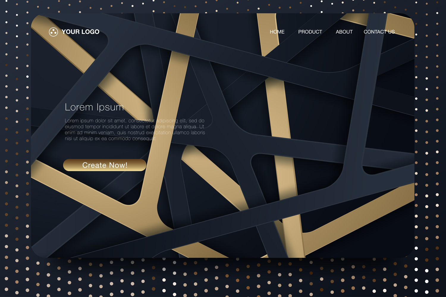 20 - Abstract background design. Landing page template example image 4