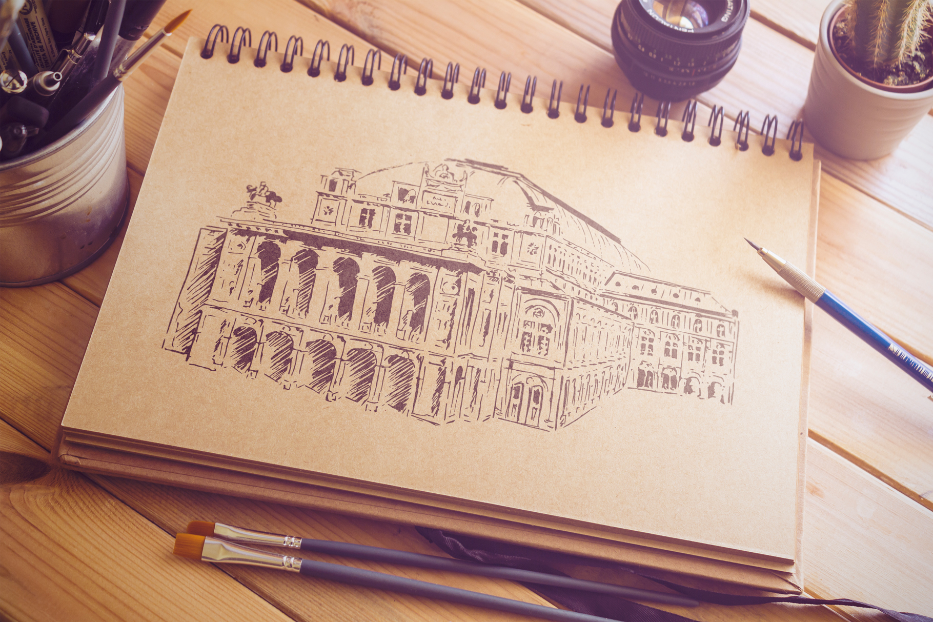 Set of Vienna sketches example image 3