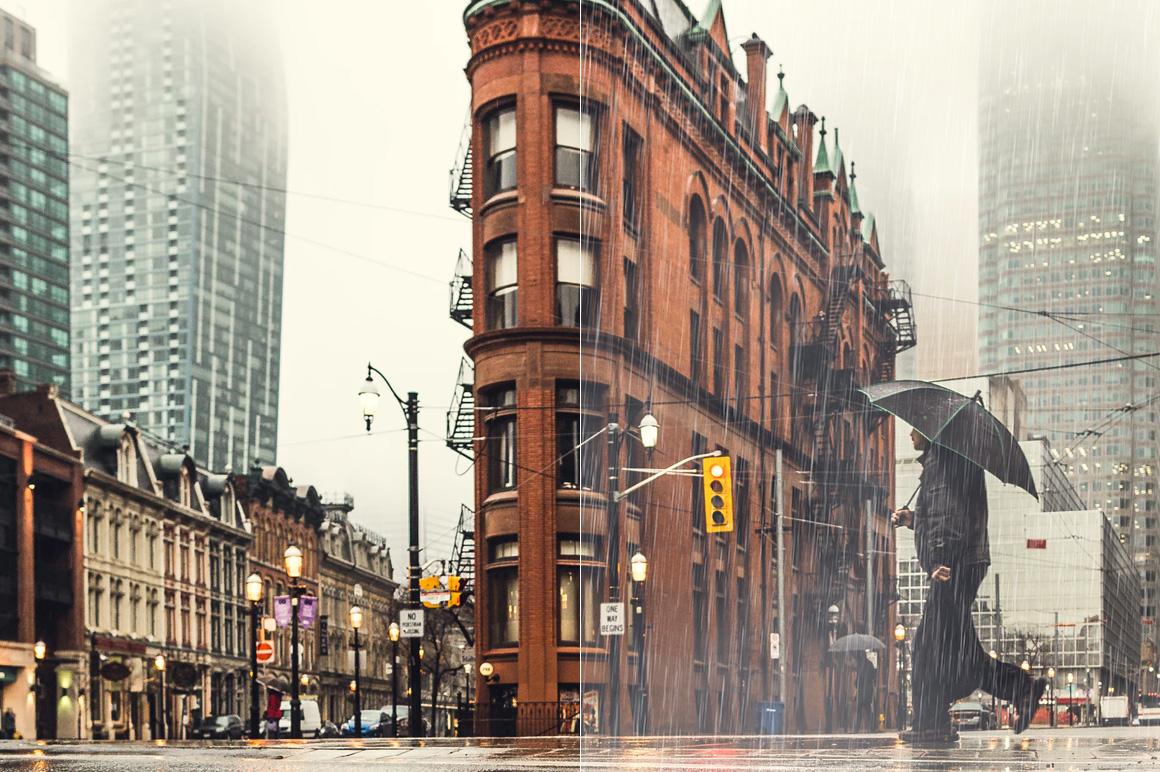 50 Rain Photoshop Brushes example image 5