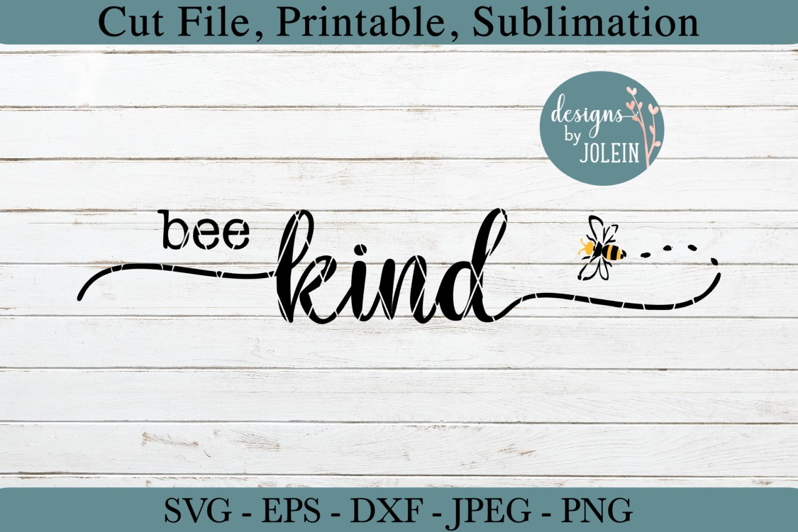 Bee Kind SVG, png, eps, DXF, sublimation example image 3